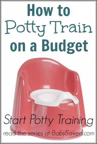 how to potty train on a budget
