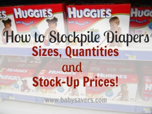 how to stockpile diapers