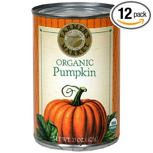 12-Pack of Organic Pumpkin (15-ounce Cans) for $10.20, Free Shipping!