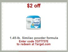 Target: Save $5 on Similac Formula with Printable Coupons