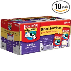 Save 41% on 18 Pack Horizon Organic Shelf-Stable Milk, Free Shipping
