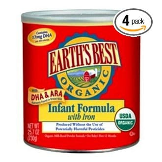 25-oz Earth's Best Organic Baby Formula for $17.35 Each, Free Shipping!