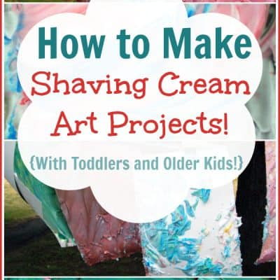 Shaving Cream Art Projects for Toddlers and Kids!