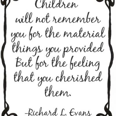 Weekend Inspiration: On Children and Material Things