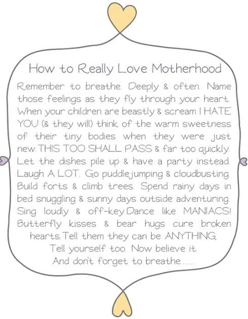 weekend inspiration how to really love parenthood