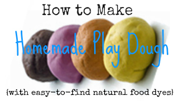 DIY Recipe: How to Make Homemade Play Dough with Natural Dyes