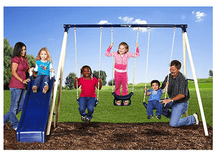 Nice Flexible Flyer Metal Swing Set For 69 Free Shipping