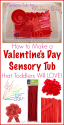 valentine's day sensory tub