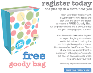 Free Baby & Pregnancy Goody Bag from BuyBuy Baby!