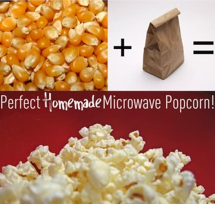 how to make utter popcorn in the microwave