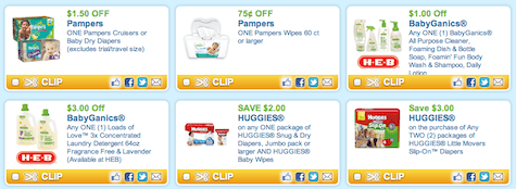 photo regarding Babyganics Coupon Printable identified as Earlier mentioned $20 within just Huggies, Pampers, Similac and BabyGanics