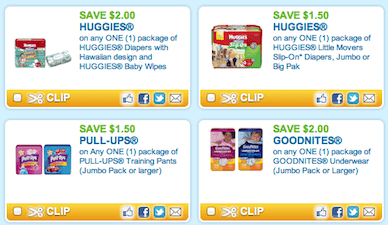 All Current Huggies Printable Coupons
