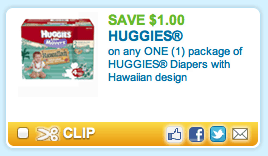New Huggies Diapers Printable Coupon