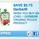 New High-Value Gerber Baby Food Printable Coupon!