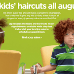 FREE Kids Haircuts from JCPenney + a FREE Charity Donation Through August 31! #FreeHaircuts