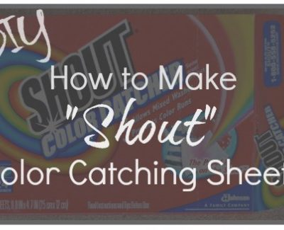 "DIY: How to Make Your Own ""Shout"" Color Catching Laundry Sheets"