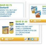 Save Up to $8.50 on Baby Food and Snacks with Gerber Printable Coupons
