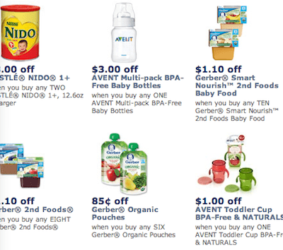 Save with New Gerber Baby Food Printable Coupons