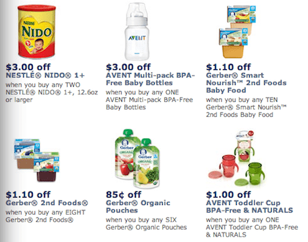 photograph regarding Gerber Printable Coupons named Help you save Previously mentioned $10 with Contemporary Gerber, Avent Printable Child Coupon codes