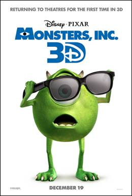 New Monsters Inc. 3D Trailer: See it Here!