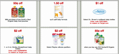 Printable coupons for target baby items