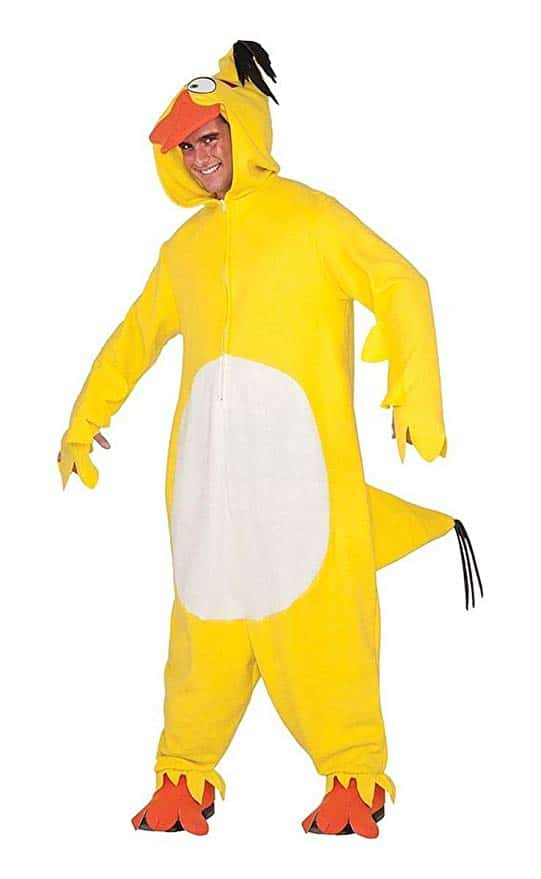 Angry Birds Adult Costume Yellow Chuck