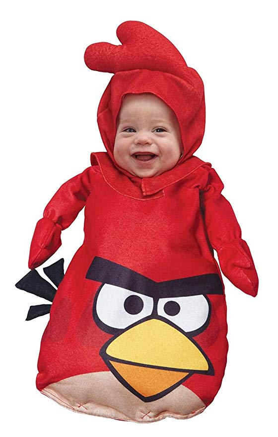 angry birds costumes baby red