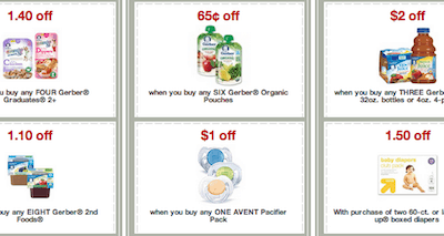 Target Printable Baby Coupons for Deals on Avent, Gerber Up & Up and More