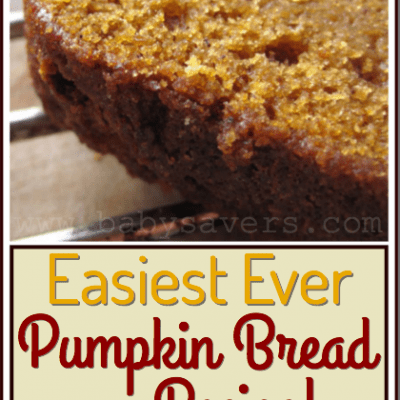 Easy Pumpkin Bread Recipe with Cake Mix!