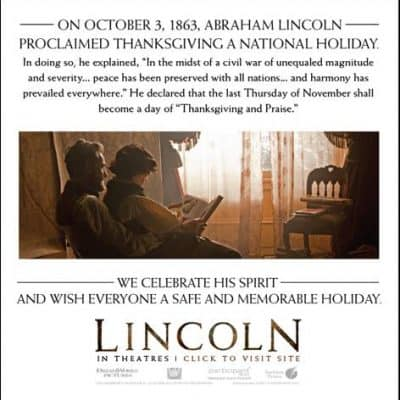 Happy Thanksgiving from LINCOLN!
