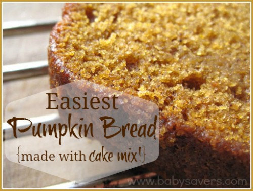 Easy Pumpkin Bread made with cake mix
