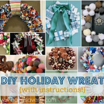 12 Unique DIY Holiday Wreath Ideas {With Instructions!}