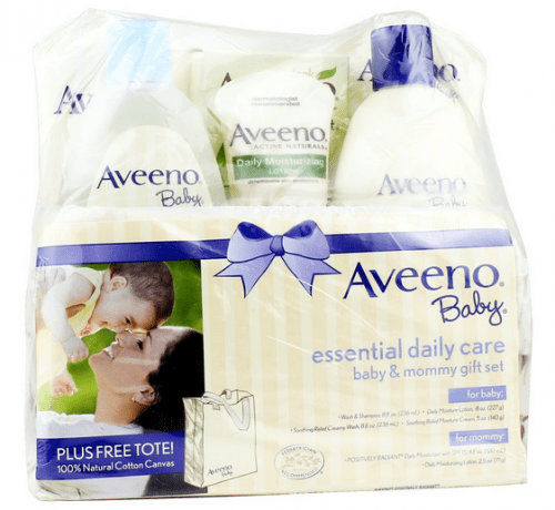 Save 44% on the Aveeno Baby Daily Care Essentials Baby and Mommy Gift Set, Free Shipping Eligible!
