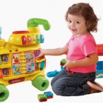 Save 44% on the VTech Sit-to-Stand Alphabet Train Walker and Ride-On Toy!