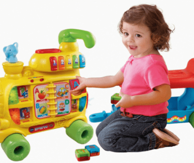 Save 44% on the VTech Sit-to-Stand Alphabet Train Walker and Ride-On Toy OR the Vtech Learning Walker!