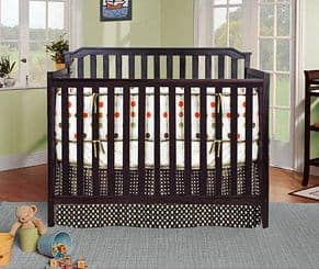 BFS Baby Milan Lifetime 4-in-1 Fixed Side Crib, Espresso