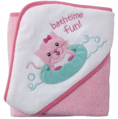 Circo Baby Girls Kitty Plush Hooded Towel