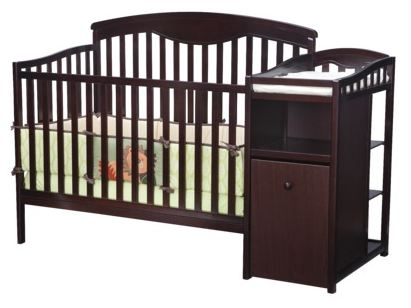 Delta Shelby Crib and Changer in Espresso