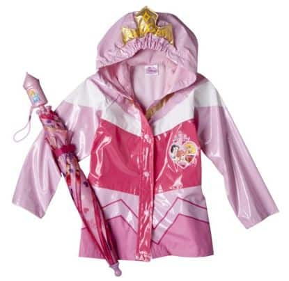Disney Princess Toddler Girls Umbrella and Rain Coat