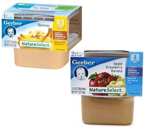Gerber 1st and 2nd foods