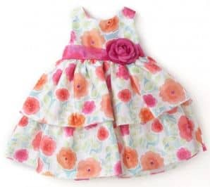 Infant Floral Tiered Dress and Panty