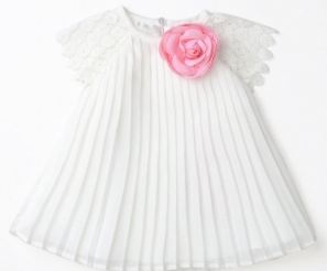 Newborn Dress with FLower & Panty