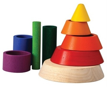 Save 50% on the Plan Toys Preschool Cone Sorting Toy plus Free Shipping!