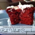Celebrating a Job Always Well Done with Chocolatey Red Velvet Cupcakes