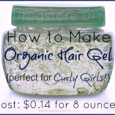 homemade hair gel