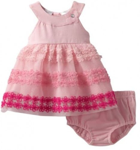 Baby Grand-Girls Newborn 2 Piece Knit Dress and Panty