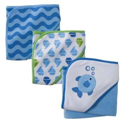Circo Baby 3 Pack Hooded Towel-Blue