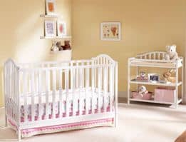 Cooper 4-in-1 Convertible Fixed-Side Crib and Changing Table Nursery Set