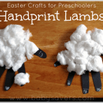 Easter Crafts for Preschoolers: Easy Handprint Lambs