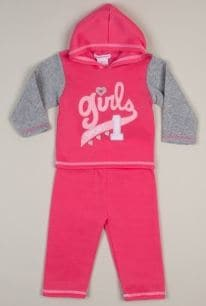 Infant Girls Sport 2 Pc Fleece Set